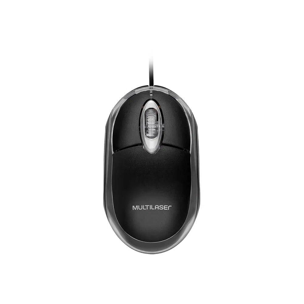 Mouse Multilaser USB Classic Box Preto - MO179