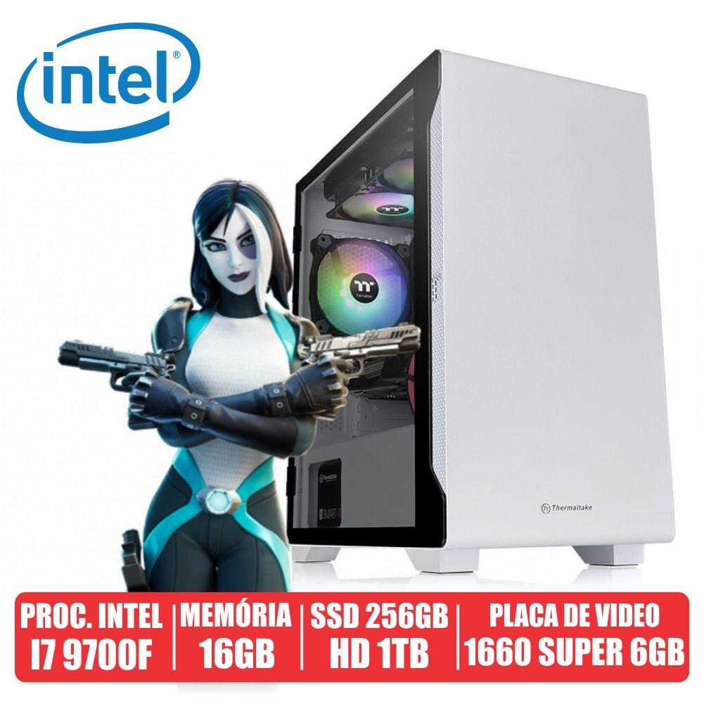Pc Gamer Ares Intel i7 9700F 16gb Ssd 256gb + Hd de 1tb Gtx 1660 Super 6gb 600w 80 Plus