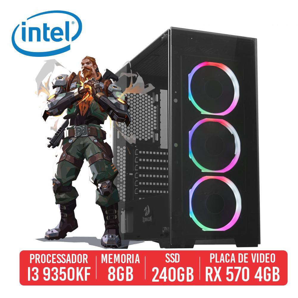 PC Gamer AUG Intel 9350KF, 8GB, SSD 240GB, RX 570 4GB, 500W 80 Plus