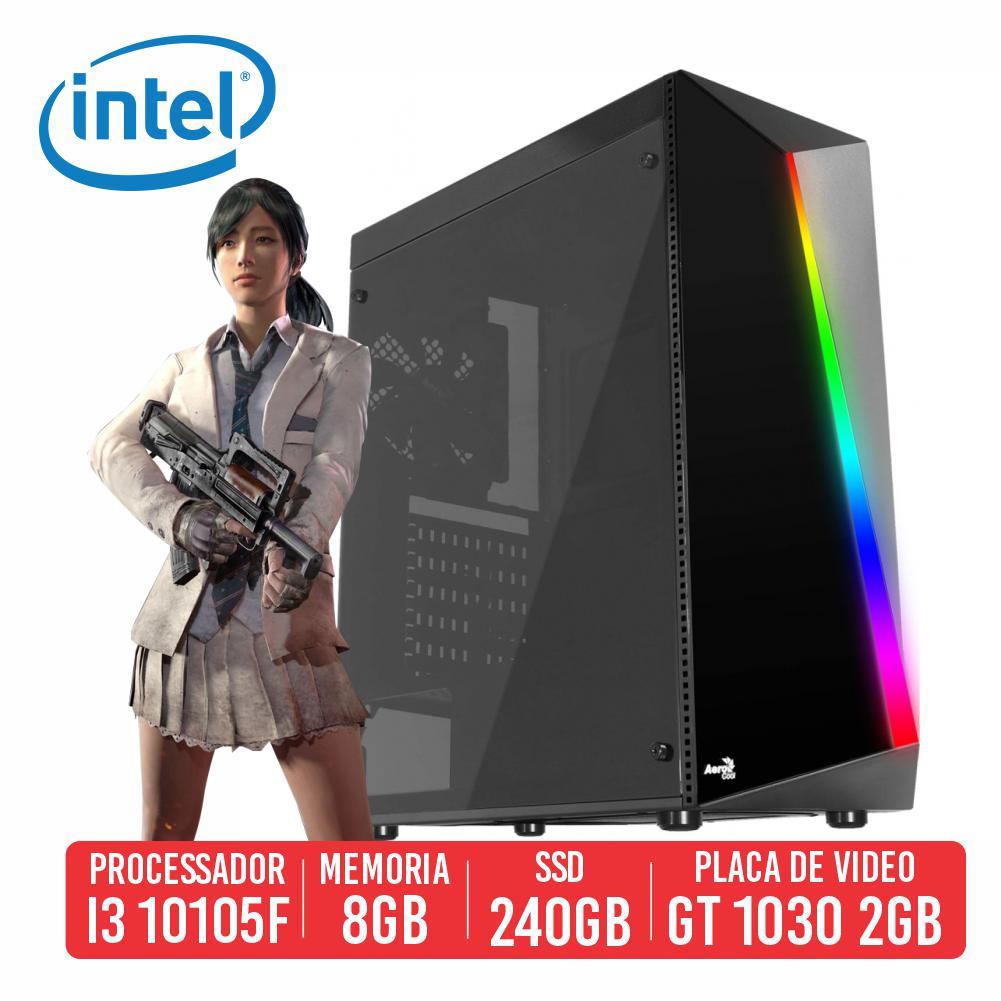 Pc Gamer Beryl M762 Intel I3 10105F 8GB SSD 240GB GT 1030 2gb 500W