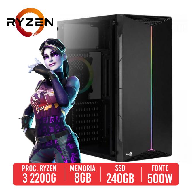 PC Gamer Bizon AMD RYZEN 3 2200G, 8GB, SSD 240GB, 500W 80 PLUS