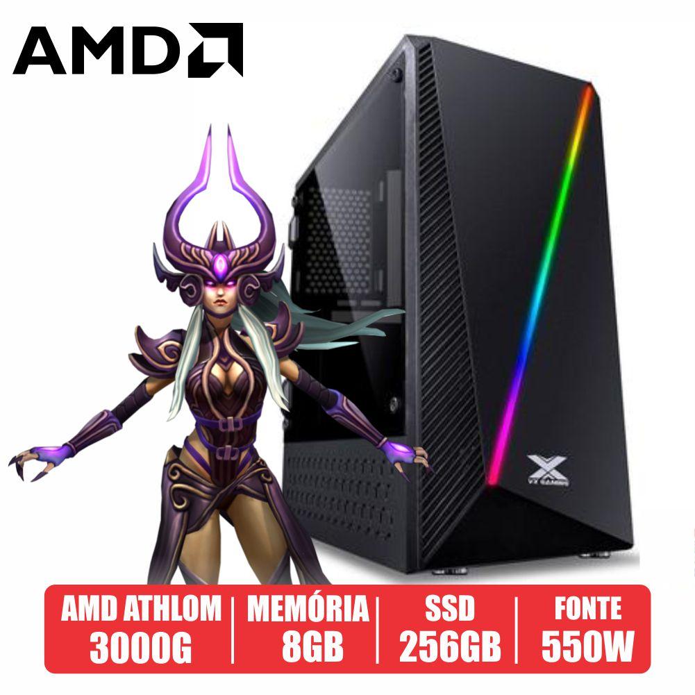 PC Gamer Desert AMD Athlon 3000G 8GB SSD 256GB 500W