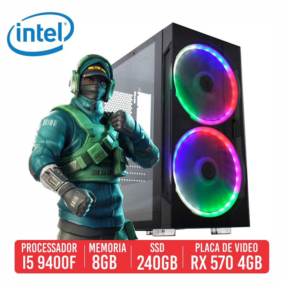 PC Gamer DP28 Intel I5 9400F 8GB SSD 240GB RX 570 600W