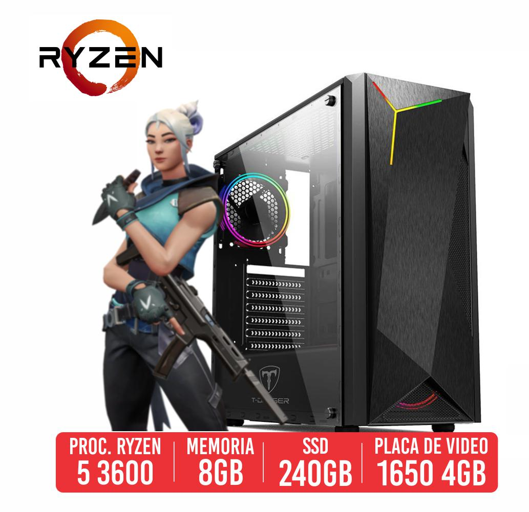 PC Gamer Groza AMD Ryzen 5 3600 8GB SSD 240GB GTX 1650 4GB 500W