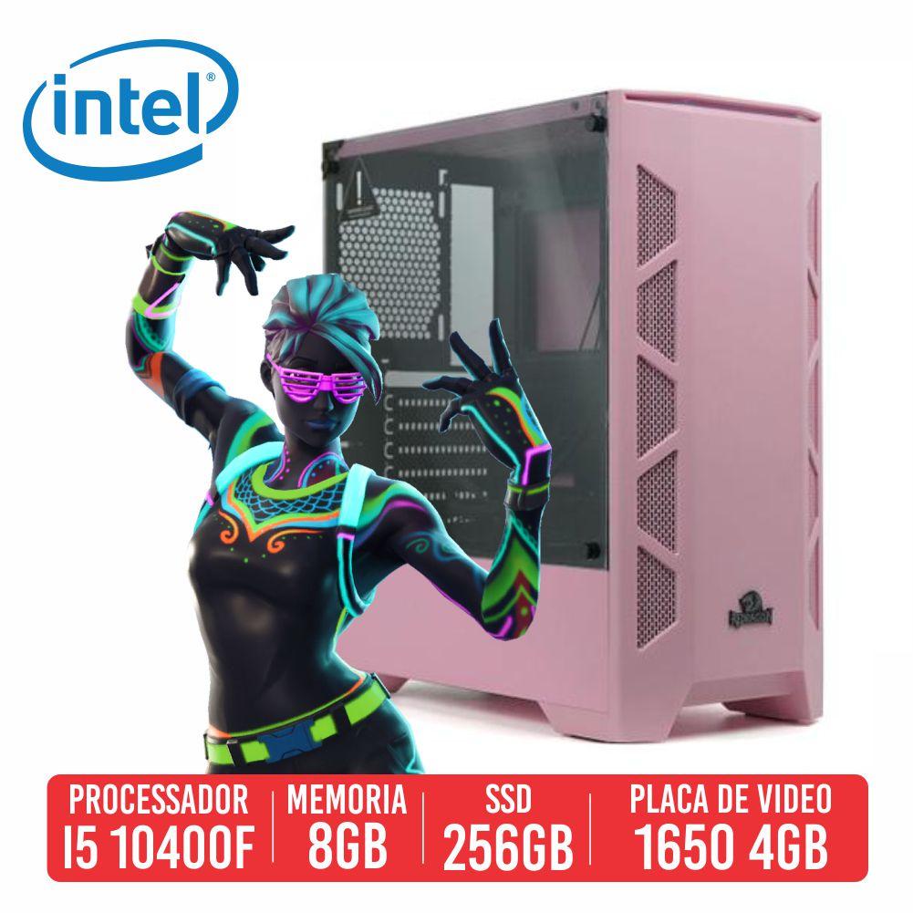 PC Gamer Groza Intel I5 10400F 8GB SSD 256GB GTX 1650 4GB 500W 80 PLUS
