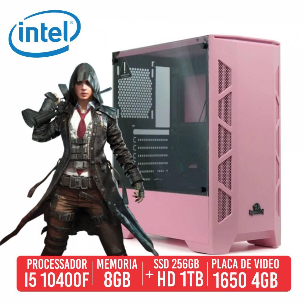 PC Gamer K47 Intel I5 10400F 8GB SSD 256GB + HD 1TB GTX 1650 4GB 600W 80 PLUS