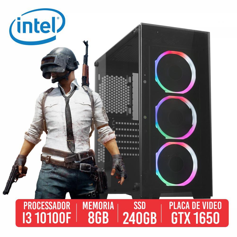 PC Gamer Karabiner Intel I3 10100F 8GB SSD 240GB GTX 1650 4GB 500W 80 plus
