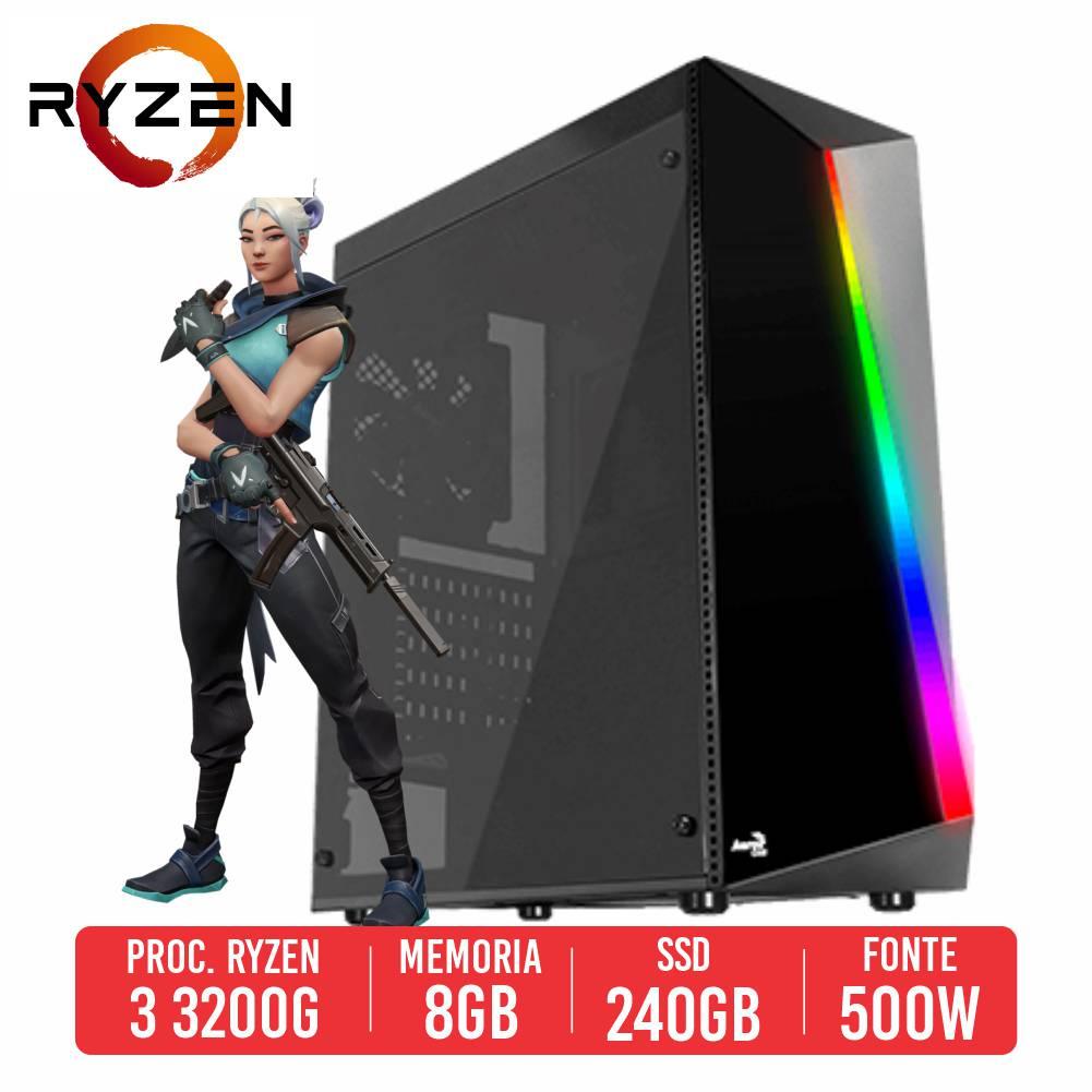 PC Gamer M249 AMD Ryzen 3 3200G, 8GB, SSD 240GB, 500W 80 PLUS