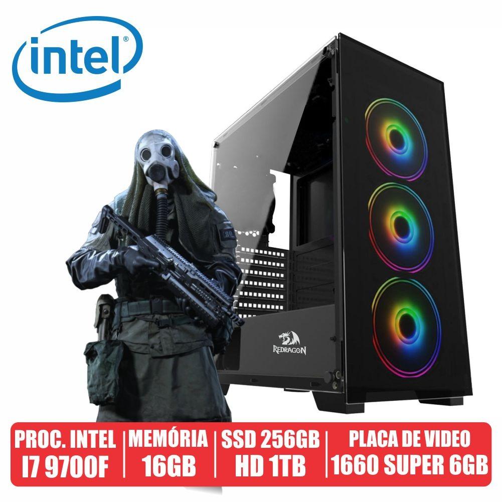 Pc Gamer Odin Intel i7 9700F 16gb Ssd 256gb + Hd de 1tb Gtx 1660 Super 6gb 600w 80 Plus