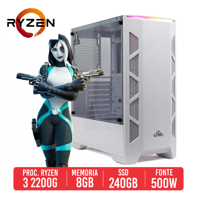 PC Gamer P90 AMD Ryzen 2200G, 8GB, SSD 240GB, 500W 80 PLUS