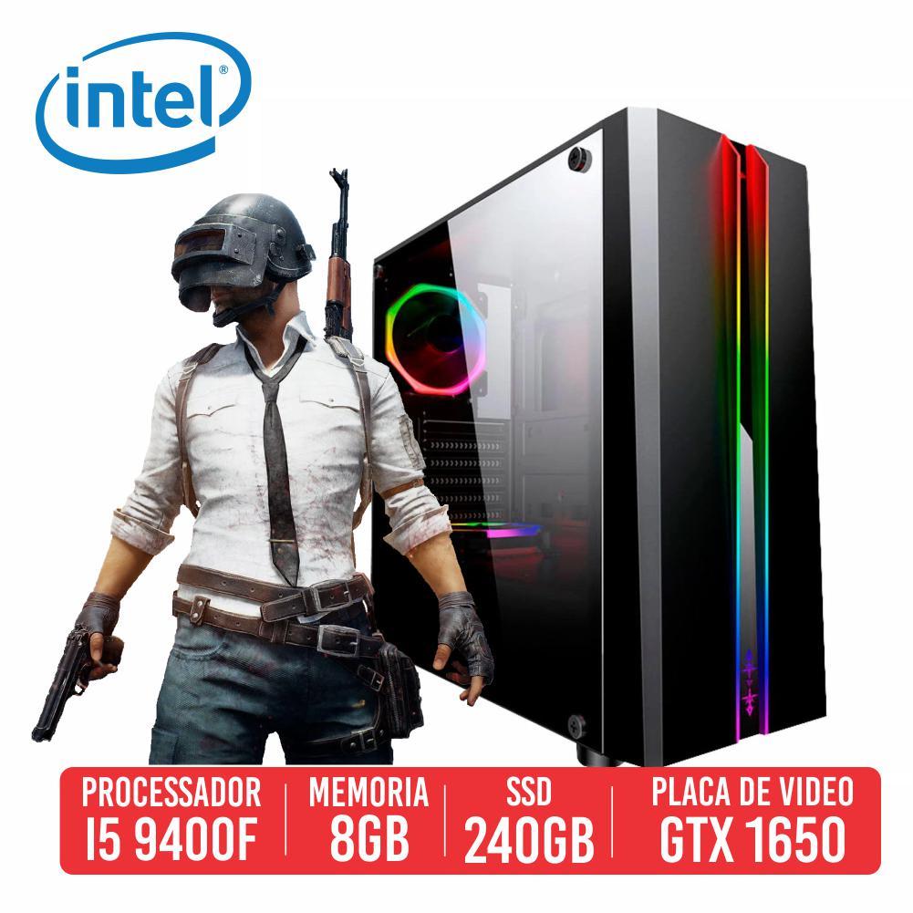 PC Gamer Pump Intel I5 9400F 8GB SSD 240GB GTX 1650 4GB 500W