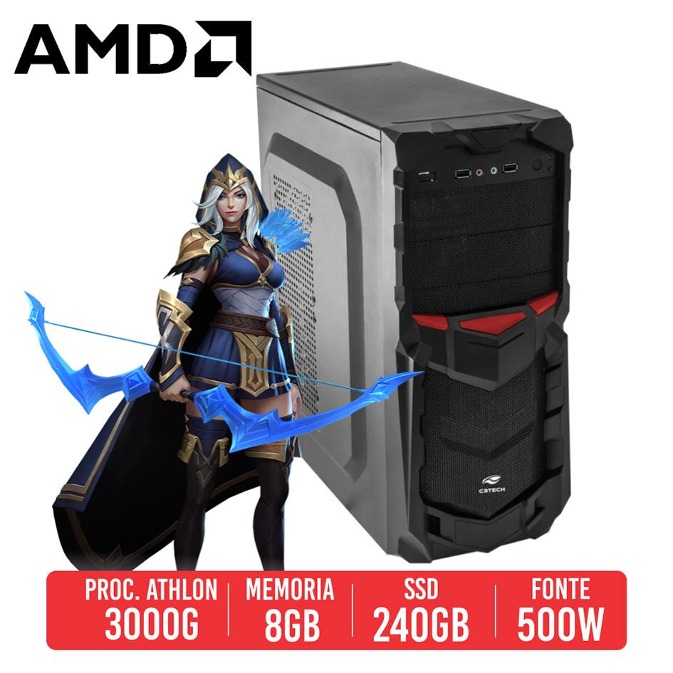 PC Gamer R45 AMD Athlon 3000G, 8GB, SSD 240GB, 500W