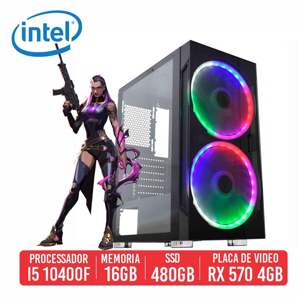PC Gamer Scar-l Intel I5 10400F 16GB SSD 480GB Rx 570 4gb 600w