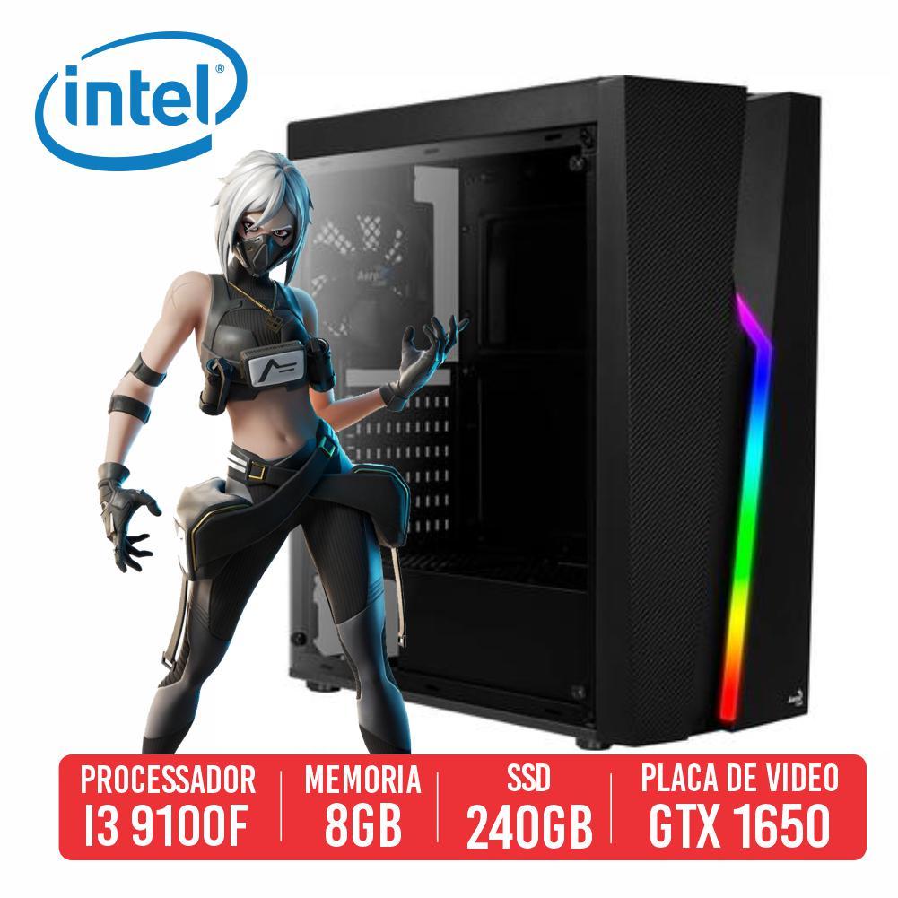 PC Gamer SKS Intel I3 9100F, 8GB, SSD 240B, GTX 1650 4GB, 500W 80 PLUS