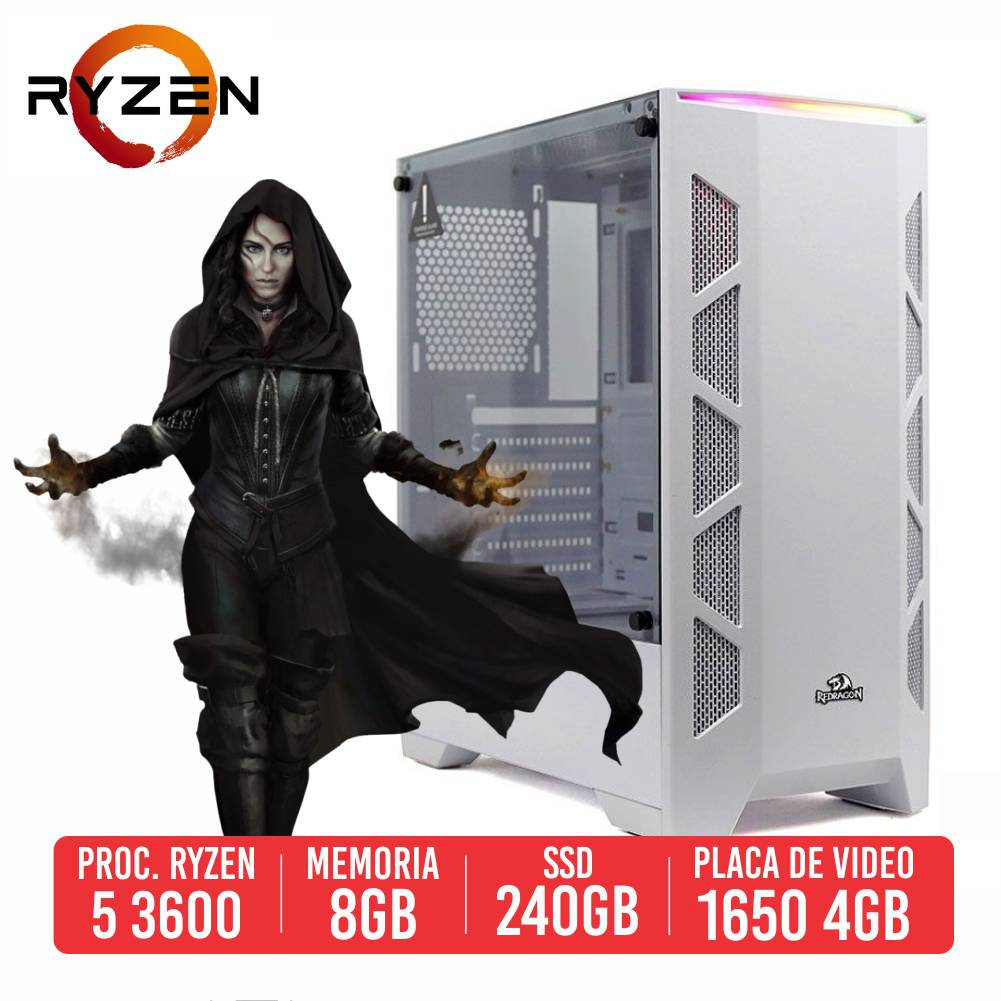 PC Gamer M24 AMD Ryzen 5 3600 8GB SSD 240GB GTX 1650 4GB 500W