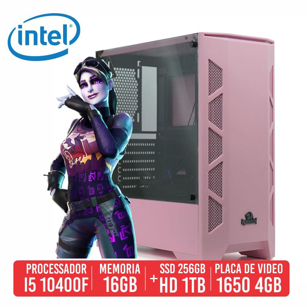 PC Gamer Vector Intel I5 10400F 16GB SSD 256GB + HD 1TB GTX 1650 4GB 600W