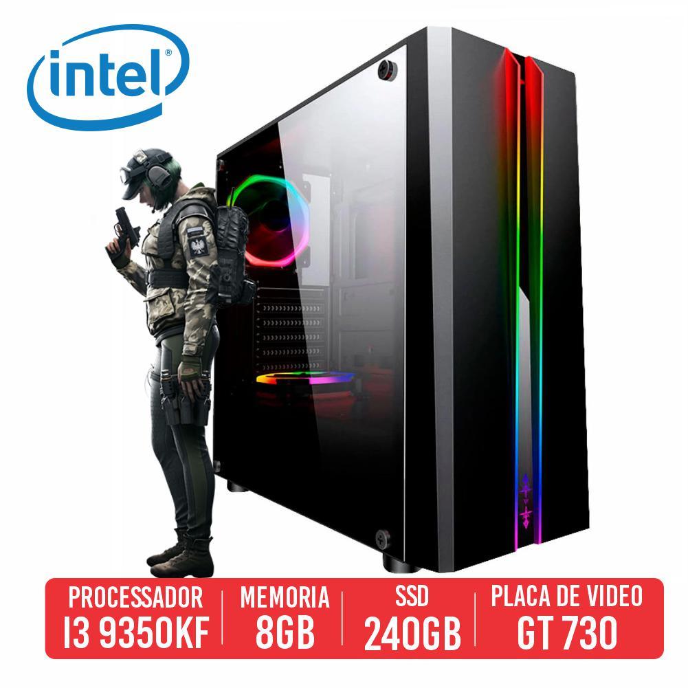 PC Gamer VSS Intel I3 9350KF, 8GB, SSD 240GB, GT730 4GB, 500W