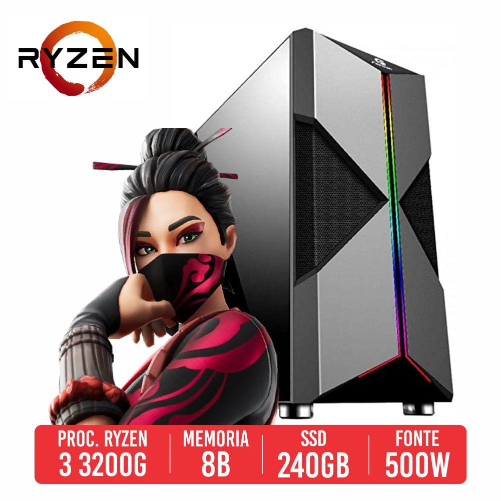 PC Gamer Winchester AMD Ryzen 3 3200G 8GB SSD 240GB 500W 80 PLUS