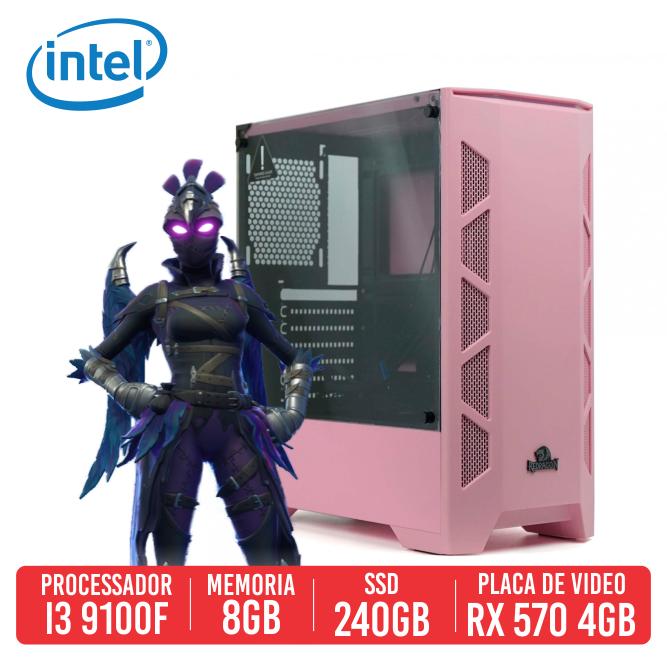 PC Gamer Mini 14 Intel I3 9100F, 8GB, SSD 240B, RX 570 4GB, 500W 80 PLUS