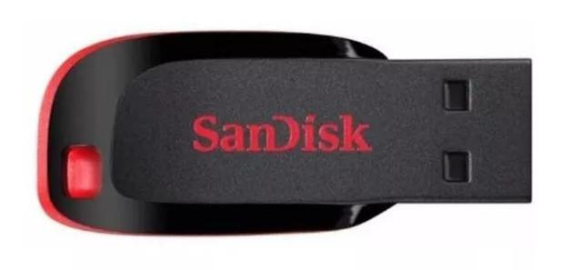 Pen Drive Sandisk Cruzer Blade USB 2.0 8GB SDCZ50-008G-B35