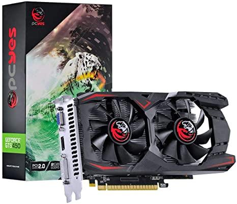 Placa De Video Pcyes Nvidea Geforce GTS450 2GB GDDR5 128 BITS DUAL-FAN - PA45012802G5