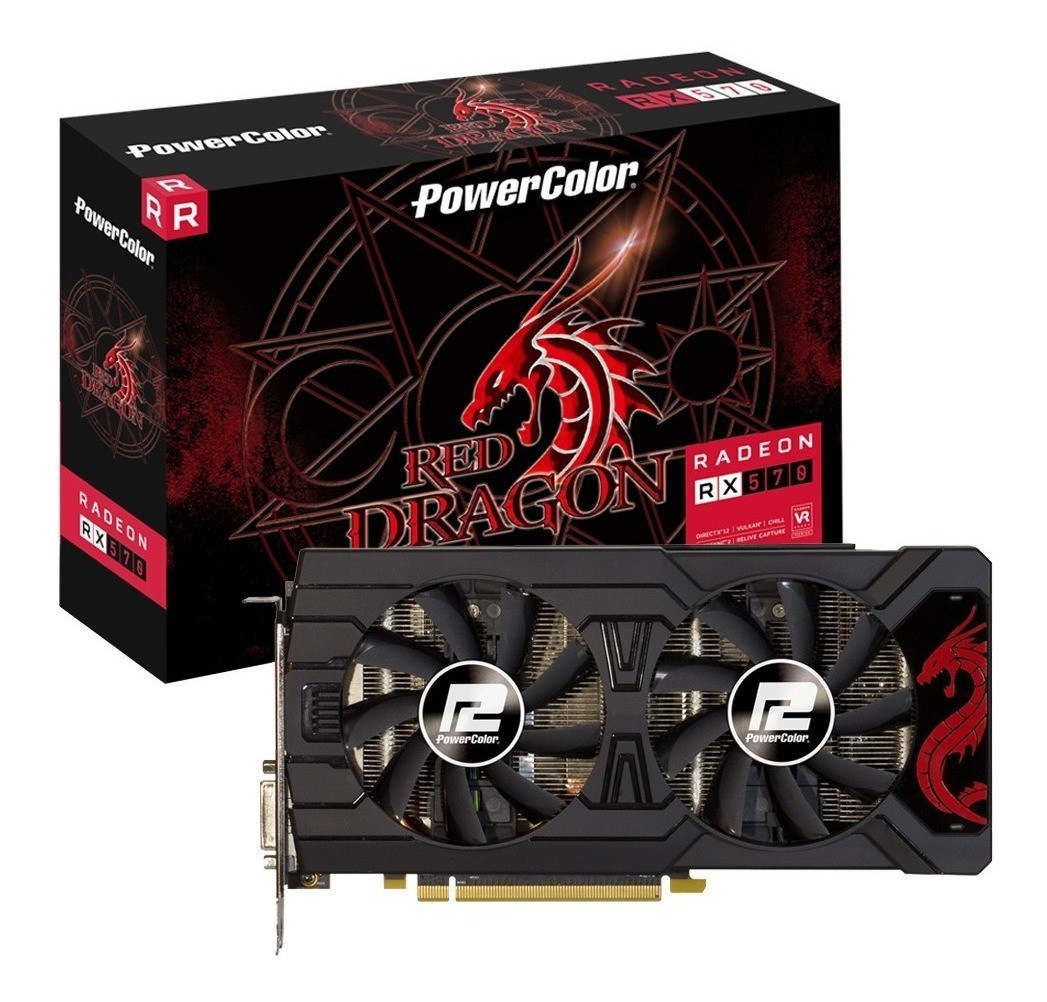 Placa de Video Powercolor Amd Radeon rx 570 4gb gddr5 - 4gbd5-dhdv3/oc