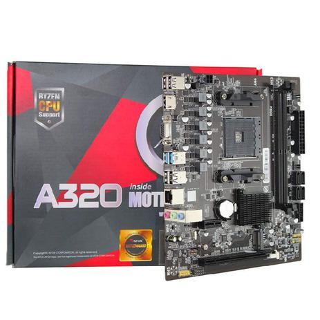 Placa Mãe Afox, A320, Chipset A320, AMD AM4, mATX, DDR4, A320-MA-V2
