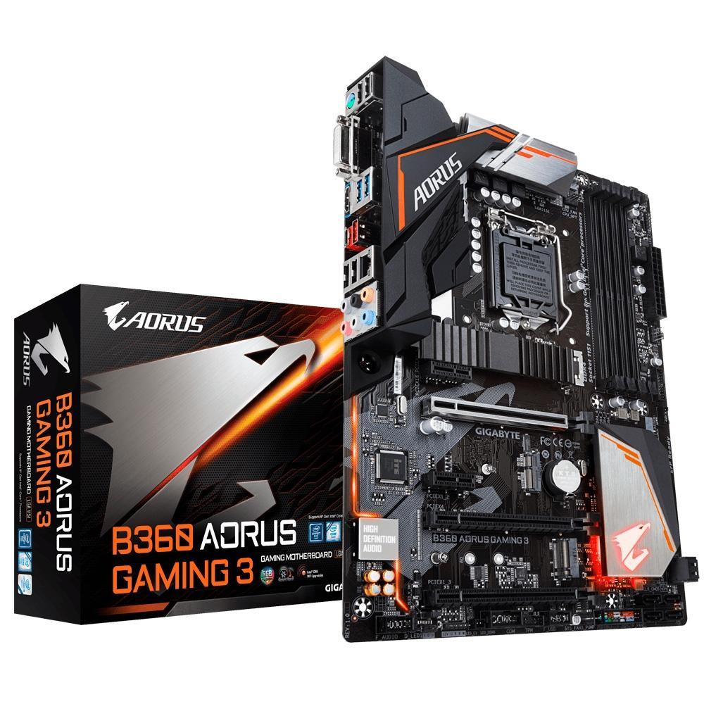 Placa Mãe Gigabyte Aorus B360 Aorus Gaming 3, Intel LGA 1151, ATX, DDR4