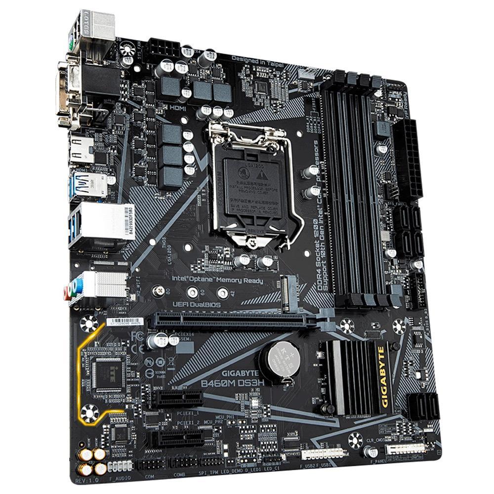 Placa-Mãe Gigabyte B460M DS3H, Intel LGA 1200, mATX, DDR4