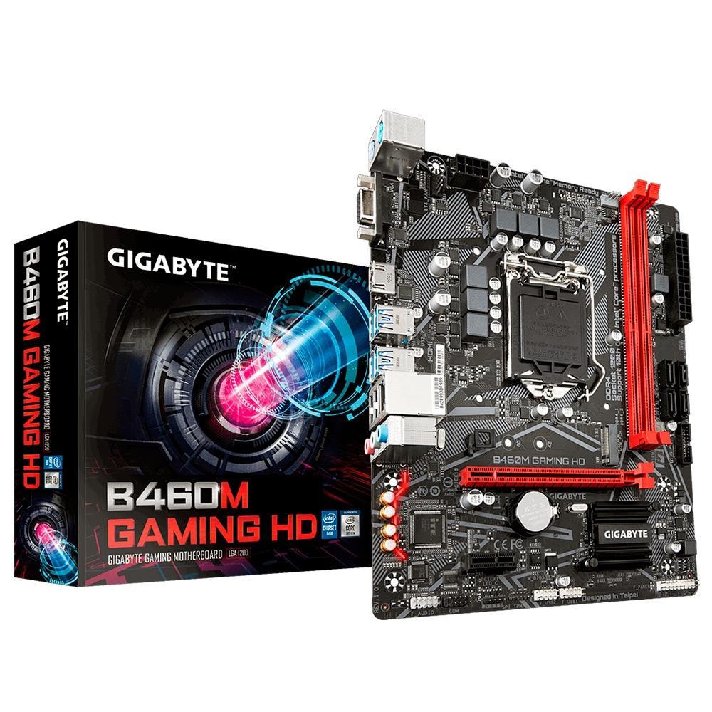 Placa Mãe Gigabyte B460M Gaming HD, Intel LGA 1200, mATX, DDR4