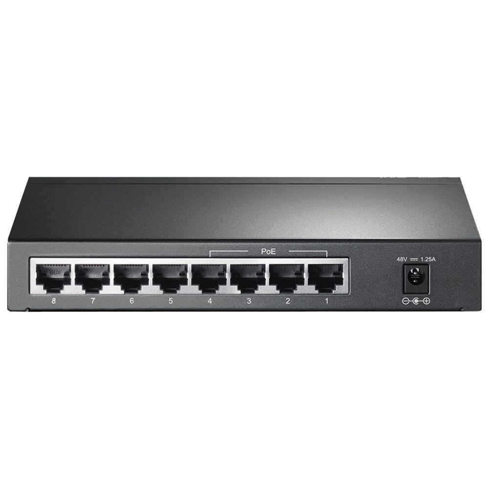 Switch TP-Link  Gigabit 8 Portas (4 Portas Poe) Tl-Sg1008p