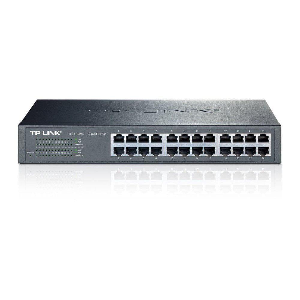 Switch TP-Link Gigabit 24 Portas 10/100/1000 -  TL-SG1024D