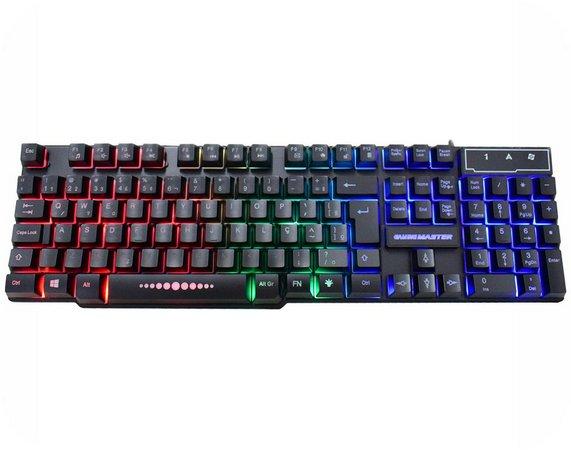 Teclado Kmex USB Gamer Rainbow com LED - KM-5228