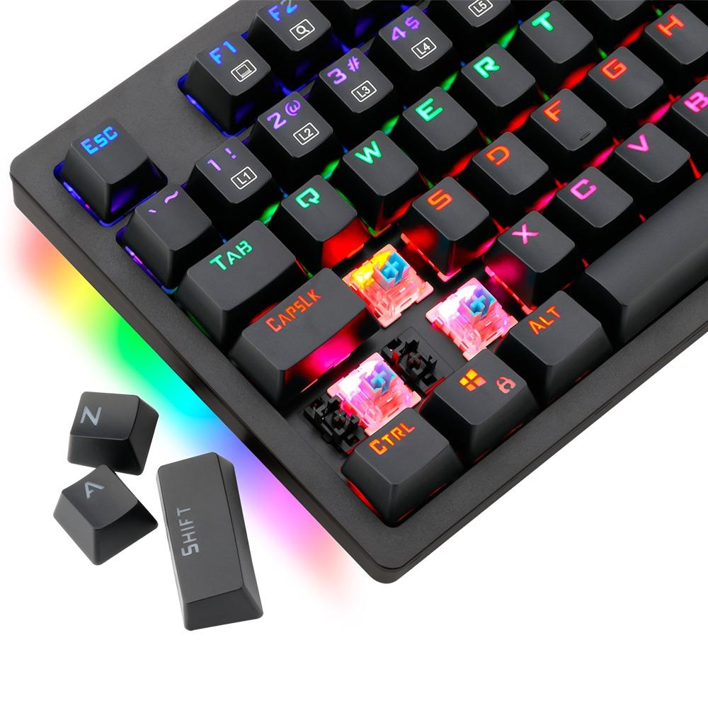 Teclado Mecânico Gamer T-Dagger Bermuda, RGB, Switch Outemu MK2 Red, ABNT2