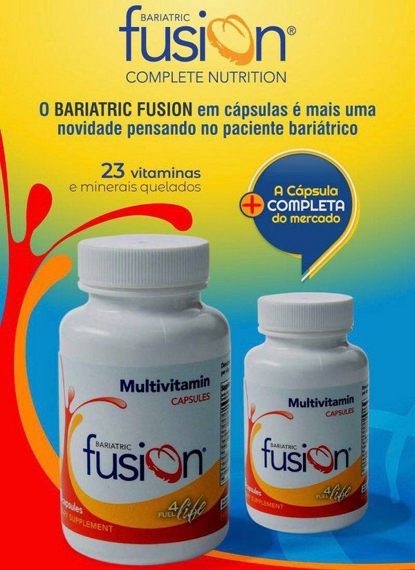 Bariatric Fusion Sem Sabor - Suplemento Vitamínico & Mineral em Cápsulas