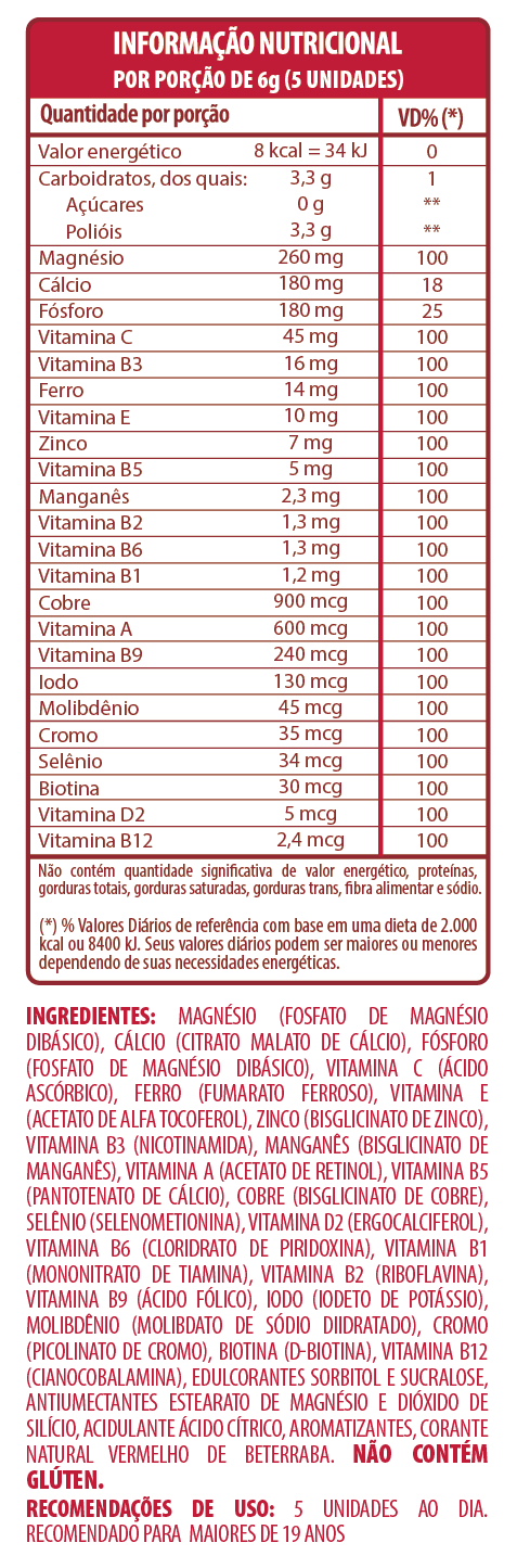 BELT +23 SABOR MORANGO MULTIVITAMÍNICO E MULTIMINERAL - 150 PASTILHAS