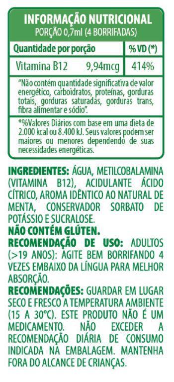 Belt B12 Spray Mais Menta (metilcobalamina)