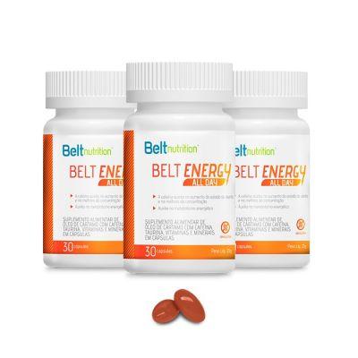 Belt Energy (Cafeína de Liberação Lenta) - 30 cápsulas gelatinosas