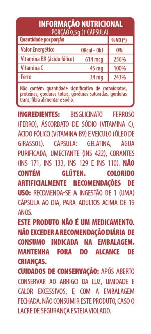 Belt Ferro, Vitamina C + Ácido Fólico