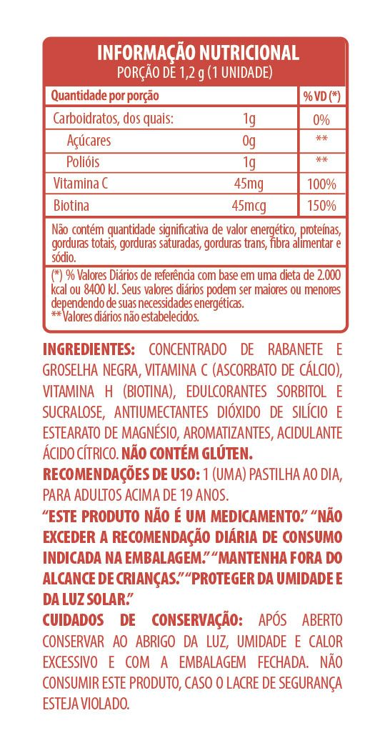 Belt Hair Nail and Skin Limonada com Morango - 30 pastilhas mastigáveis