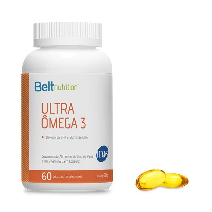 Belt  Ultra Ômega 3 867MG EPA e 512MG DHA 60 cápsulas gelatinosas - Selo de Pureza IFOS