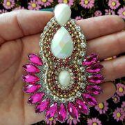 Cabedal I - Índio/ Cocar (Pink e Perolado)