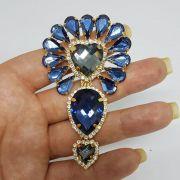 Cabedal Luxo I - Índio/ Cocar (Azul Marinho)