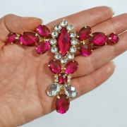 Cabedal Luxo T - Camafeu Strass (Pink)