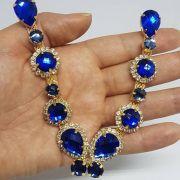 Cabedal Luxo V - Brincadeira de Borboleta (Azul Royal)