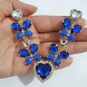 Cabedal Luxo V - Coração das Borboletas (Azul Royal)