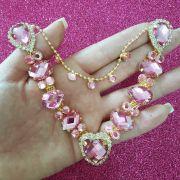 Cabedal Luxo V - Coração de Pedra (Rosa)