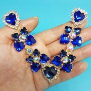 Cabedal Luxo V - Corações para Amar (Azul Royal)