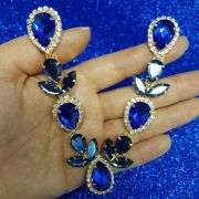 Cabedal Luxo V - Iara Mesclado (Azul Royal e Azul Marinho)