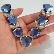 Cabedal Luxo V - Pedras de Trillion (Azul Marinho)